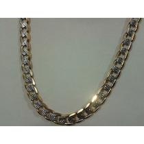 Cadena Collar Oro Laminado18k Diamantada 60cm X 8mm