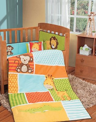 Juego de edredon cama cuna corral jungla beb vianney hm4 1 en mercadolibre - Juego de cama para cuna ...
