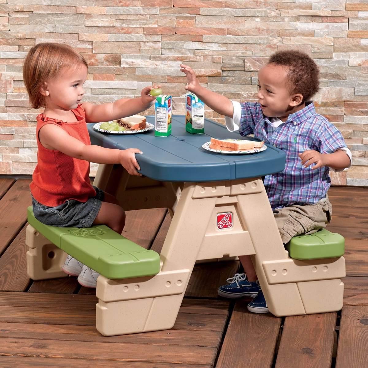 Juego mesa con 2 sillas sombrilla mesita silla infantil - Mesita con sillas infantiles ...
