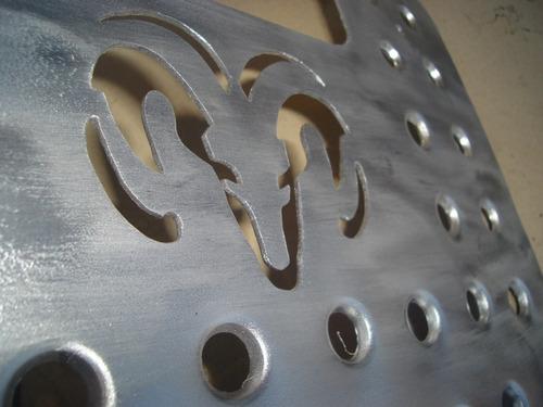 Juego Posapies Carnero Dodge Aluminio Troquelado
