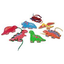 Tablas P/ Tejer Dinosaurios Madera Y Cuerda 12 Piezas 4+ Dml