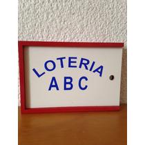 Juego Didáctico De Madera Lotería Abc