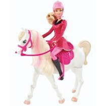 Barbie And Her Sisters In A Pony Tale Train And Ride Horse P