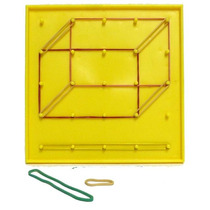 Geoplano Doble Cara Plástico Geometría 17x17cm 1 Pza 6+ Dml
