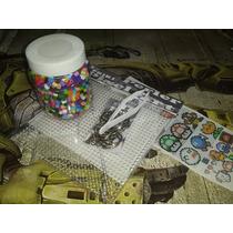 Kit 1 Pixel Art 2000 Cuentas Tipo Perler, Hama, Base, Pinzas