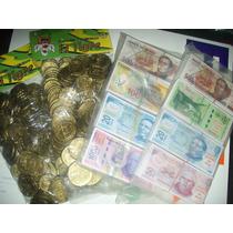 Gcg 1 Lote De 800 Mini Billetes Y 200 Monedas Mexico Juguete