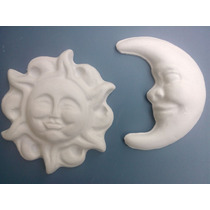 Sol Y Luna En Yeso 20 Piezas (pueden Ser Mixtas)