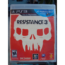 Ps3 Resistence 3 Sellado,nuevo,nunca Abierto,juegalo En 3d.