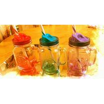 Mason Jars De Asa Colores