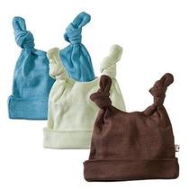 Bebé Soja Fundamentos 3 Pieza Sombrero Nudo Doble Para Niños