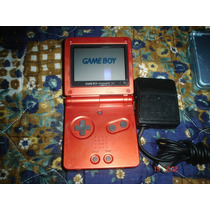 Game Boy Advance Sp Rojo Con Un Juego Original Y Cargador