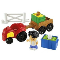 Little People Farm Tractor & Trailer Playset