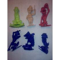 Plastimarx 6 Figuras Nutty Mads Originales Marcadas En Base