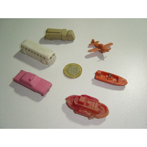 Colección De Seis Carritos De Plástico Antiguo Pequeñitos