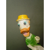 Antigua Figura De Pato Donald Con Tambor En Vinil 50