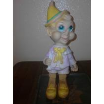Antigua Figura Pinocchio Pinocho Años 60 Vinil Disney