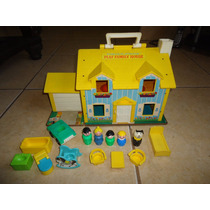 Fisher Price Play Family House Casita Little People 1969 +++