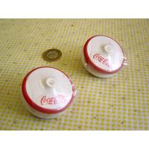 Juguete Antiguo Par De Yoyos De Coca Cola De Mercado