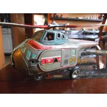Antiguo Juguete De Lamina Helicoptero Japones 50s