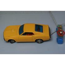 Carro Mustang Banday Control Remoto De Cable