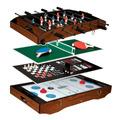 Mesa Juegos Futbolito Ajedrez Pin Pong Tablero 91cm X 50cm-