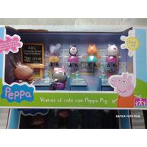 Peppa Pig Salón De Clases Con 7 Figuras Vamos Al Cole