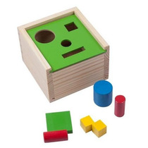 Caja Alcancía 4 Cavidades C/figuras 100% Madera 8 Pzs 3+ Dml