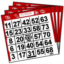 Tarjetas De Bingo (push Out) Paquete De 500 Tarjetas