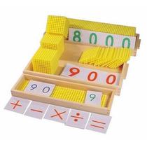 Juego Banco Decimal Montessori Madera 43x30cm 181 Pza 2+ Gpl