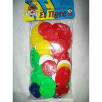 Gcg 1 Bolsa Fichas Colores Para Juegos El Tigre 100 Pzas Lqe