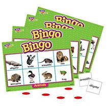Bingo Lotería Animals Animales Inglés 300 Piezas 4+ Trend