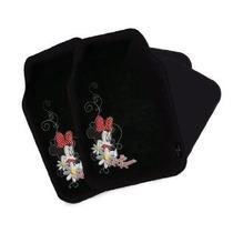 Minnie Mouse - 4 Piezas Piso Del Coche Mats Set (bordado Min
