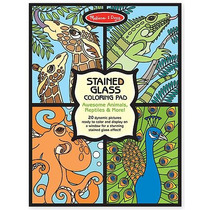 Block Papel Tipo Vitral P/ Colorear Animales Melissa & Doug