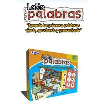 T102 Loteria Las Palabras Español Inglés 28 Piezas 3+ Totte