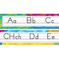 8092 Franja Abecedario Script Español Lámina Educativa Trend