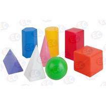 Edu-089 Cuerpos Geométricos De Plástico 8 Piezas 3+ Eduplas