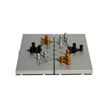 Damas Chinas Magnéticas, Estuche Plegable De Aluminio !!!!!!