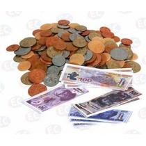 Edu087 Billetes Y Monedas Surtidos Plástico 120pzas Eduplas