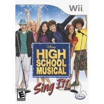 High School Musical Sing It Wii Nuevo De Fabrica