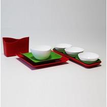 Set Botanero 11piezas Plástico (servilletero Platos Pocillo)