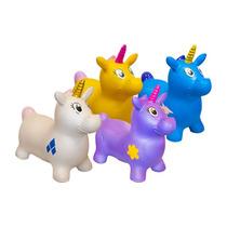 Juguete Unicornio Montable Plastico Animalitos Infable