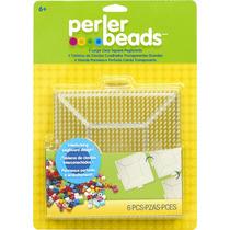 Perler Beads Base Cuadrada Grande Paquete Con 4 Pz
