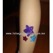 Tatuajes De Diamantina / Kit Infantil, Duran Hasta 10 Dias