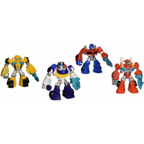 Set De 4 Muñecos Playskool Heroes Transformers Rescue Bots