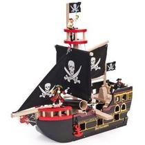 De Madera Del Barco Pirata Barbarroja