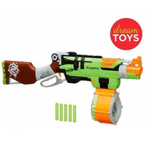 Nerf Zombie Strike Slingfire Blaster Rifle Gun With 25 Dart