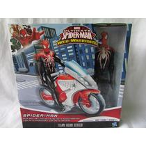 Spider Man Con Moto Aracnida Hasbro Original