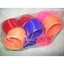 Gcg Lote Gusanos Resorte Plastico 12 Pzas Grande Colores Flr