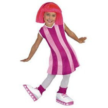 Lazy Town Stephanie Toddler Girl Traje Talla 3t-4t Deluxe