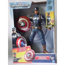 Figura Electrónica Capitan America Ataque De Escudo Hasbro